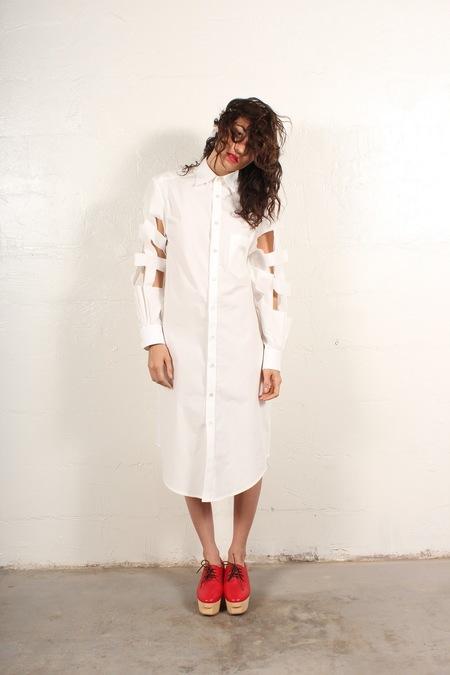 nancystellasoto Cutout Shirt-Dress