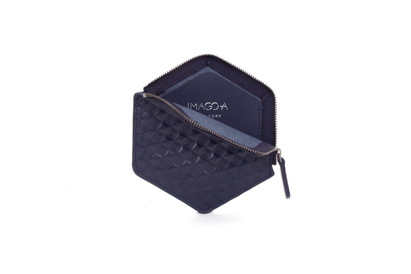Nº31 Hexa Wallet Chequered in Navy