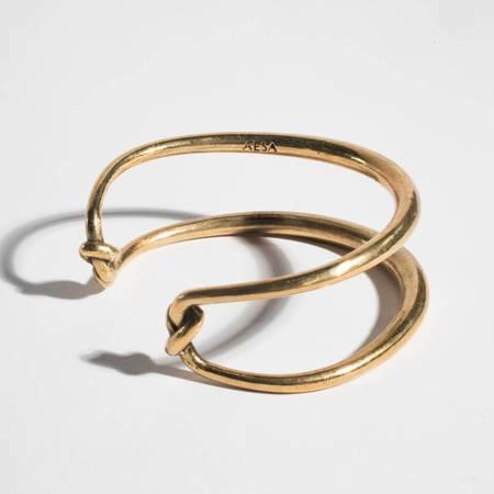Aesa Double Knot Bangle Cuff