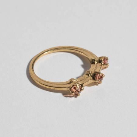 Aesa Petite Nexus Ring - 3 Garnets