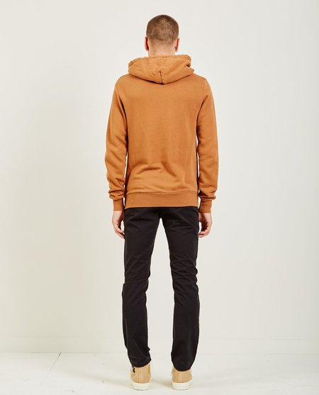 AR321 OVER DYE PULLOVER HOODIE - RUST ORANGE