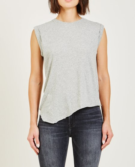 Hudson ROLLED SLEEVE TANK - HEATHER GREY