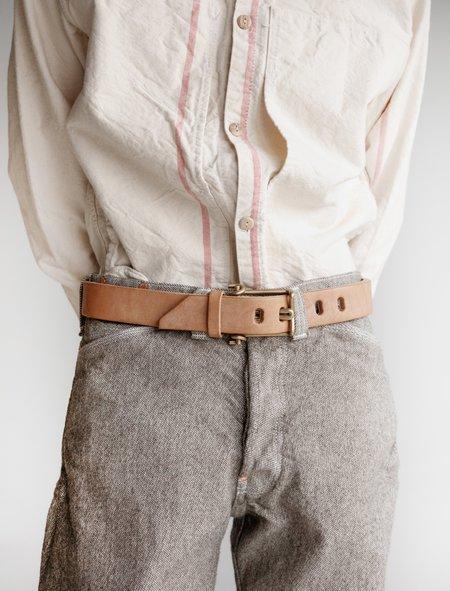 Tender Leather Wire Buckle Belt - Natural Tan Oak Bark
