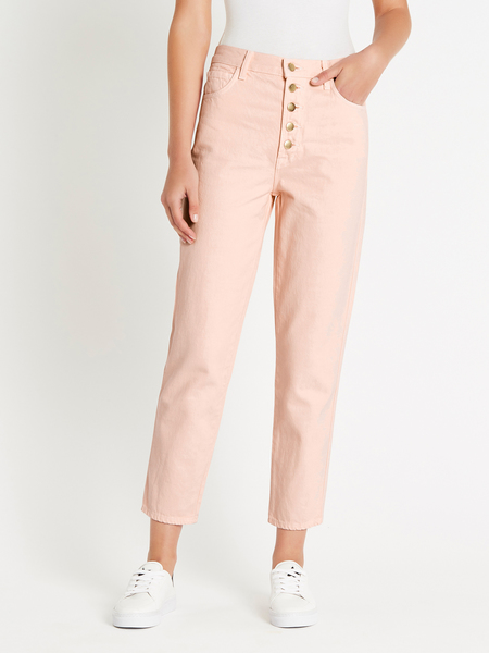 J Brand Heather Button Fly Jean - Faded Pink