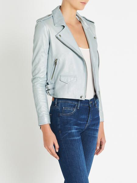 IRO Ashville Leather Jacket - AZUR BLUE