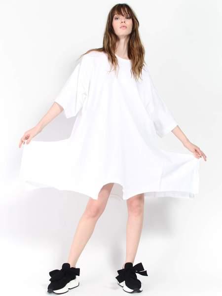 MM6 Maison Margiela Upside Down Sweatshirt Dress - White