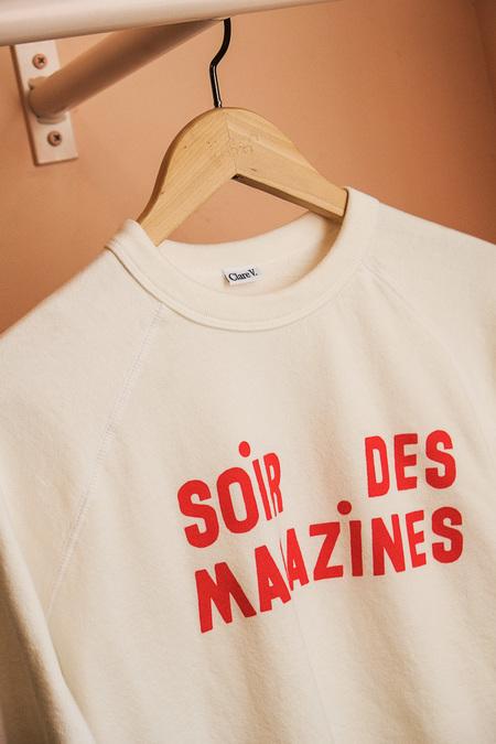 Clare V. Soir De Magazines Sweatshirt - white