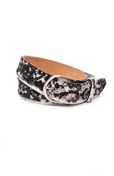 W. Kleinberg Calf Hair Belt with Nickel Buckle
