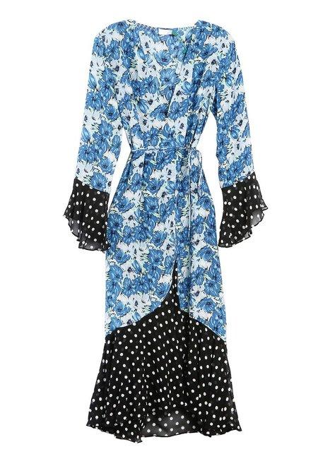 RIXO LONDON Bonnie Dress - Floral/Polka Dot
