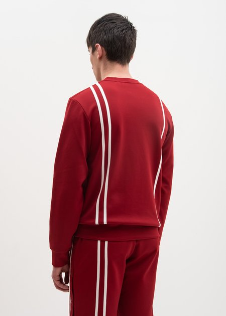 Helmut Lang Crimson Sport Stripe Sweatshirt - Red