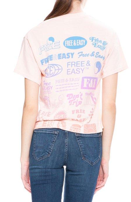 Free & Easy Logo Boxy T-Shirt