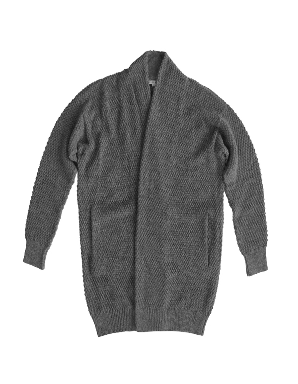 ALI GOLDEN SWEATER COAT - GREY