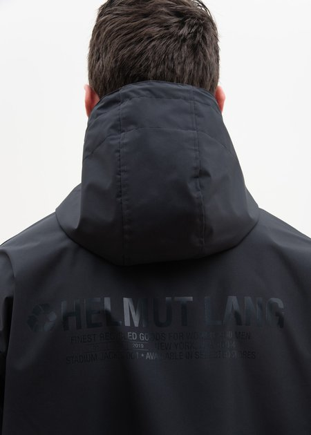 Helmut Lang Special Project Hooded Raincoat - Black