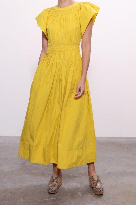 Ulla Johnson Lottie Dress - Chartreuse