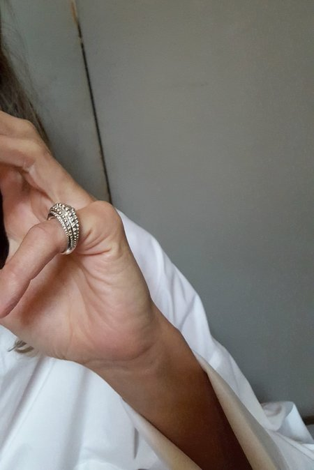 MM Druck Sphera Ring  - Silver