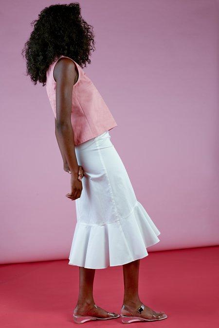 Wolcott : Takemoto Joan Skirt - White
