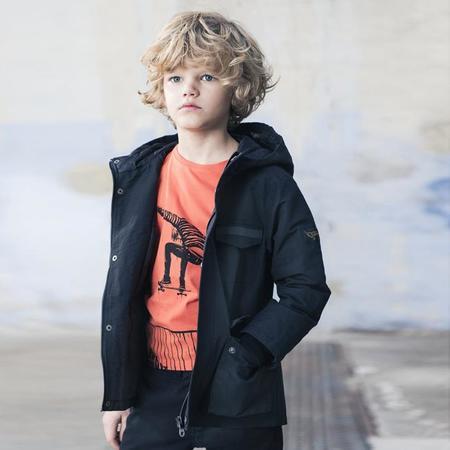 KIDS Finger In The Nose Longjohn Knitted Long Sleeve Tshirt - Orange Ollie