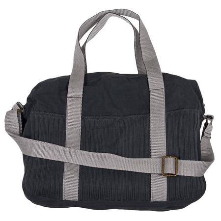 KIDS Pequeno Tocon Diaper Bag - Navy Blue With White Strap