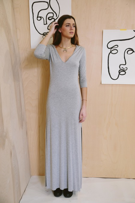 Clayton 3/4 Sleeve Stevie Dress - Gray