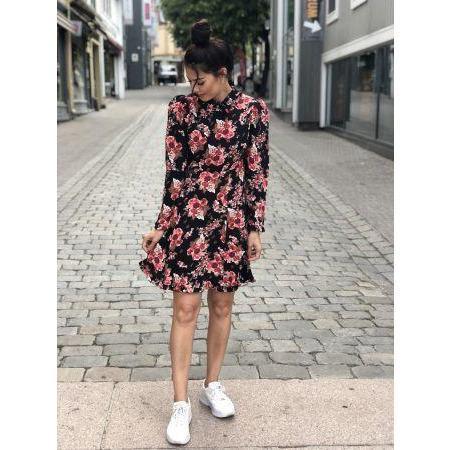 byTiMo Printed Collar Dress - Rose Tapestry