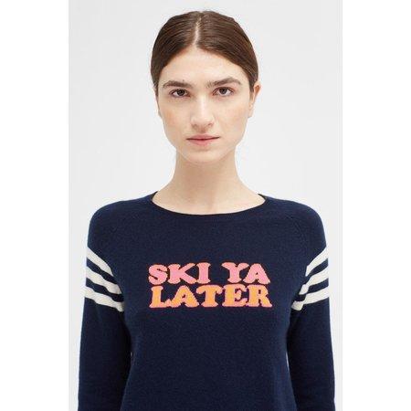 Chinti and Parker Ski Ya Later Sweater - Navy/Multi