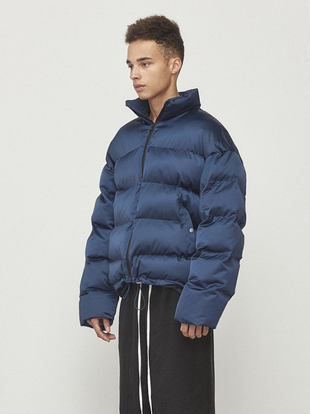 D.Prique Oversized Alternative Down Padding Jacket - Navy