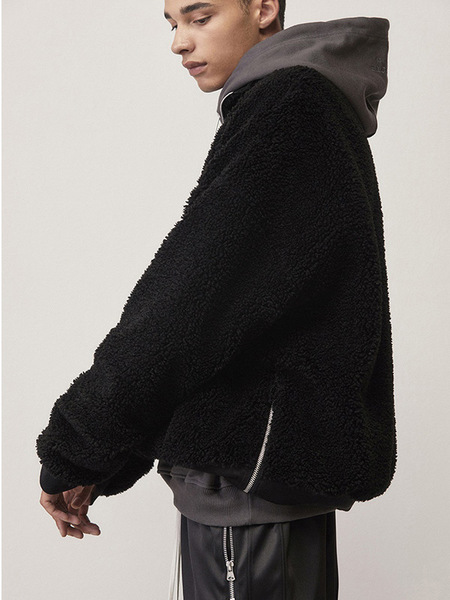 Unisex D.Prique Oversized Faux Fur Anorak - Black