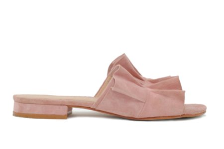 ABLE Ruffled Mule Slide - Blush