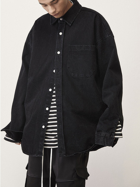 Unisex D.Prique Denim Shirt Jacket - Black
