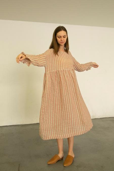 Ichi Antiquites Stripe Dress - Pink/White