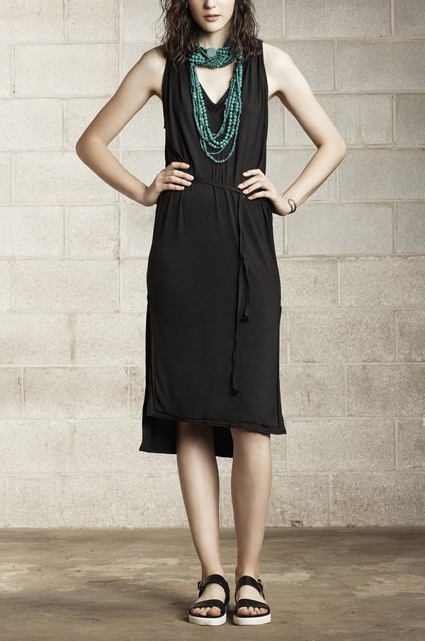 Laura Siegel Charcoal Jersey Dress