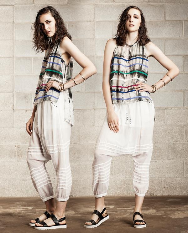 Laura Siegel Sheer Drop Crotch Pants