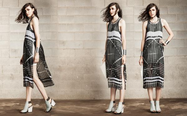 Laura Siegel White Lining Tunic Dress