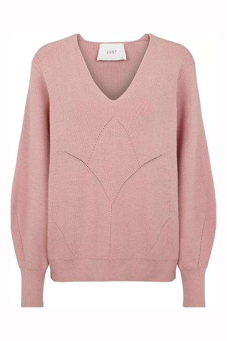Just Female Lison Knit Sweater - Bridal Rose