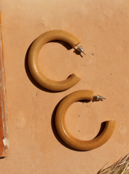 Casa Clara Santal Earring - Walnut