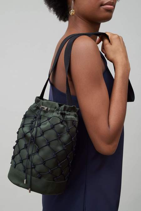 Nomia Copy of Rede Knotted Bucket Bag - Forest