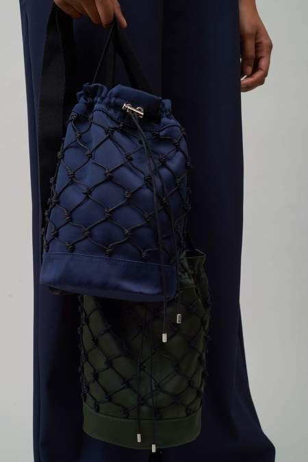 Nomia Rede Knotted Bucket Bag - Midnight
