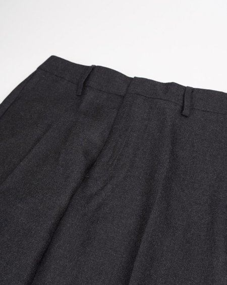 Norse Projects Thomas Slim Light Wool Trouser - Charcoal