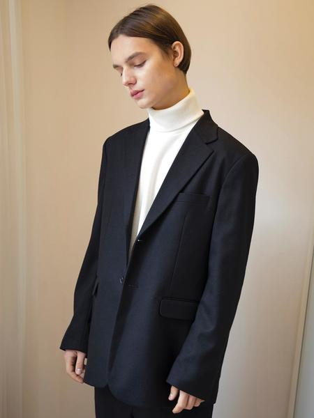 Unisex SIGNATURE Winter Setup Single Blazer Jacket - Black