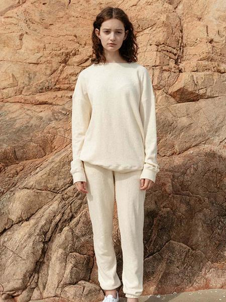 HASTO Panoco Organic Cotton Sweatpants - Ivory