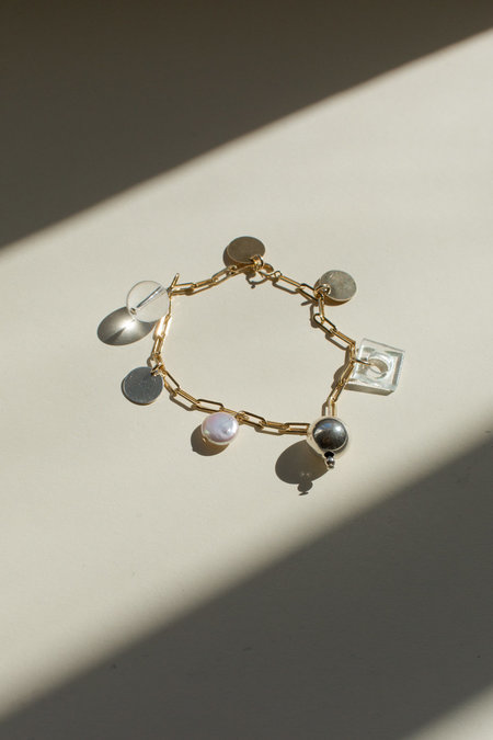 Highlow Mixed Media Charm Anklet