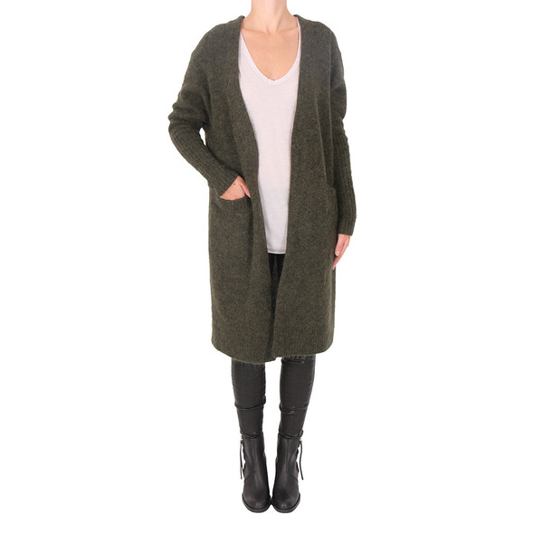Acne Studios RAYA MOHAIR CARDIGAN - MILITARY GREEN