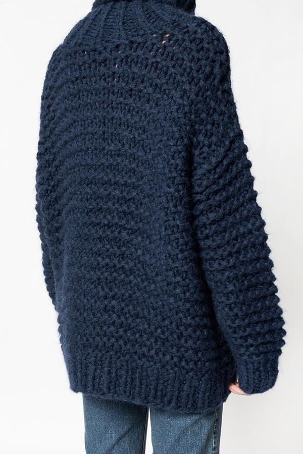 Ganni Walker St Rollneck - dress blue