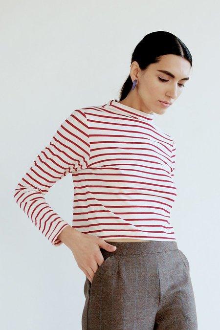 Elise Ballegeer Mock Top - Stripe