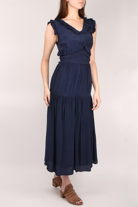 Sea NY Hemmingway Ruffle Dress - Navy