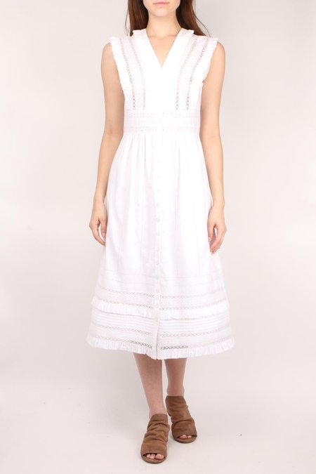 Sea NY Lilli Eyelet Midi Dress - WHITE