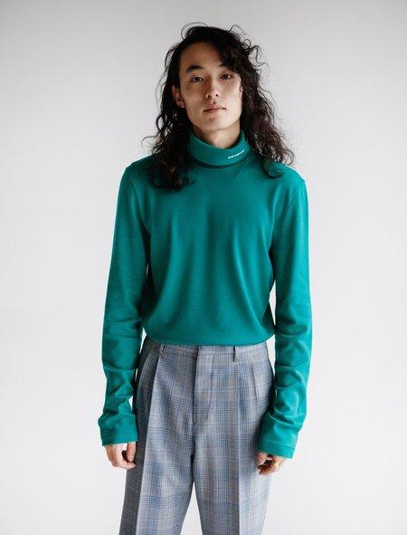 Calvin Klein 205 Turtleneck Wool Jersey - Teal
