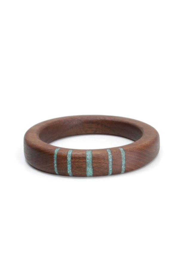 Parts Per Million Oregon Walnut Five Stripe Bangle