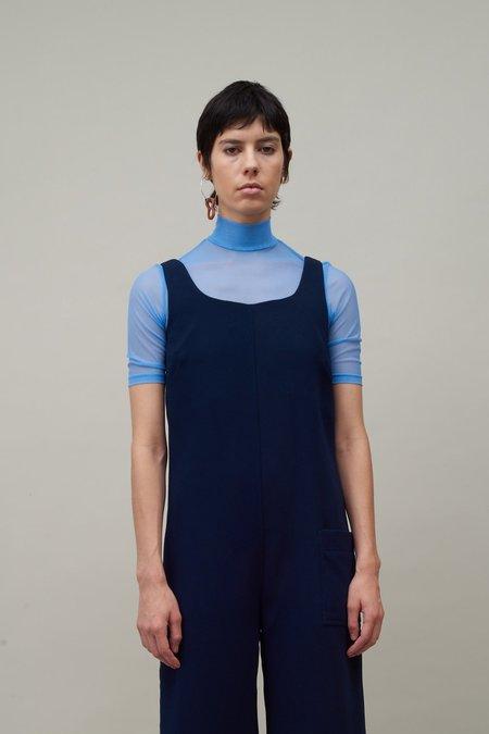 Nomia Short Sleeve Mesh Turtleneck - Periwinkle