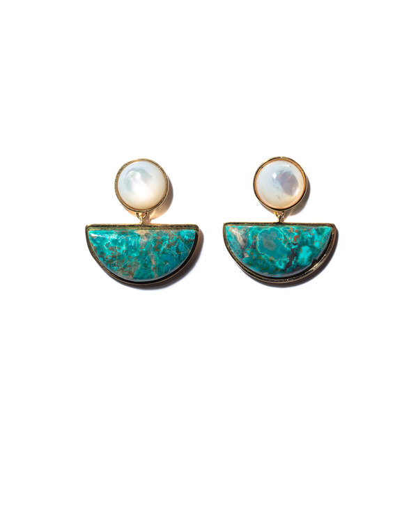 Lizzie Fortunato Geometry Earrings in Surf